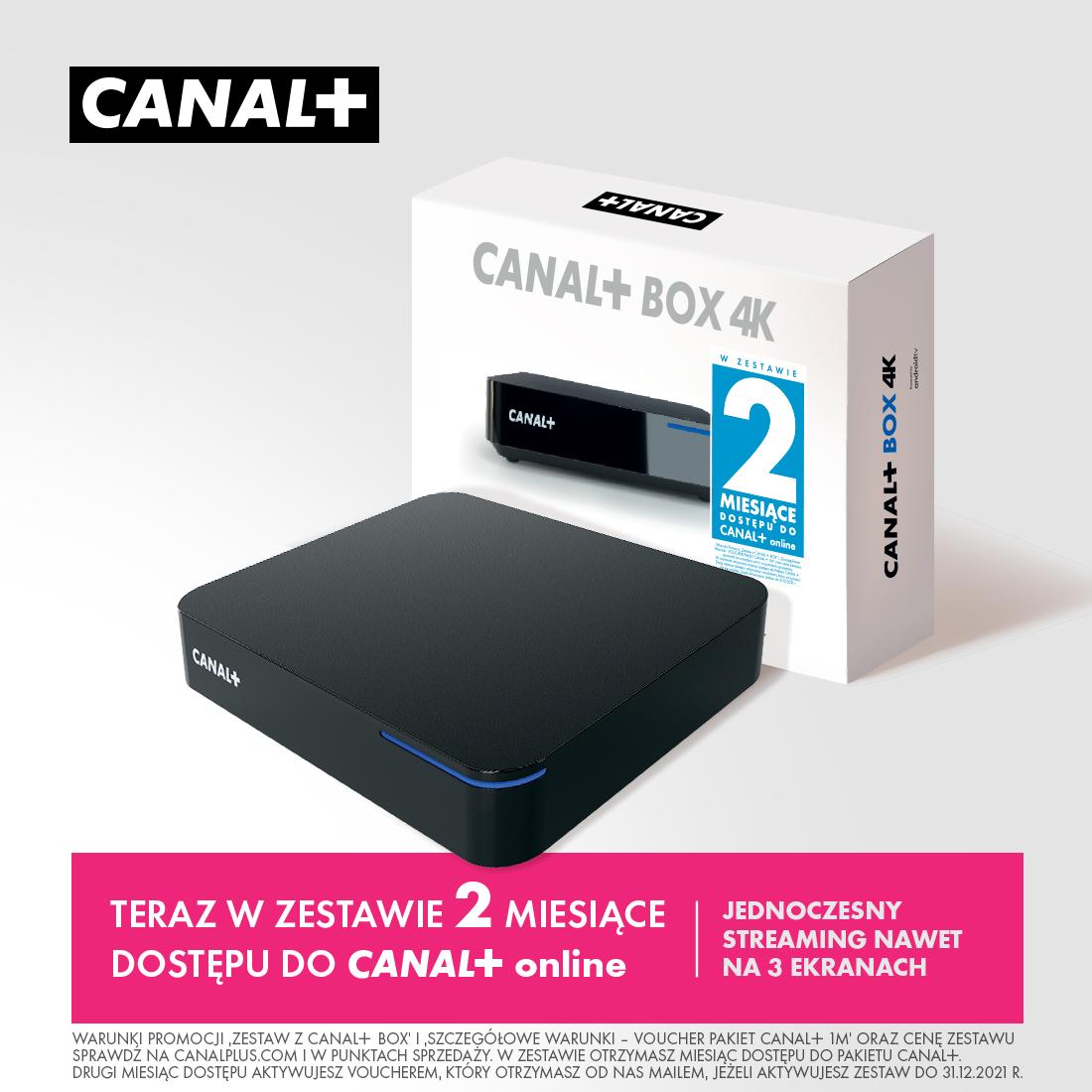 Usługa CANAL+ BOX 4K Ultra HD