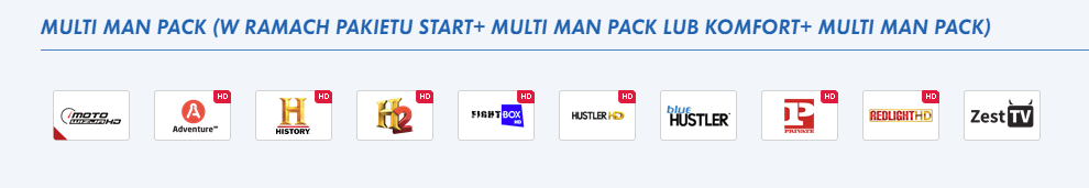 multi man pack channels