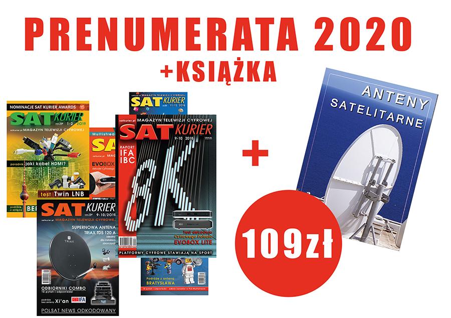 'SAT Kurier abonament  2020' + książka ANTENY SATELITARNE