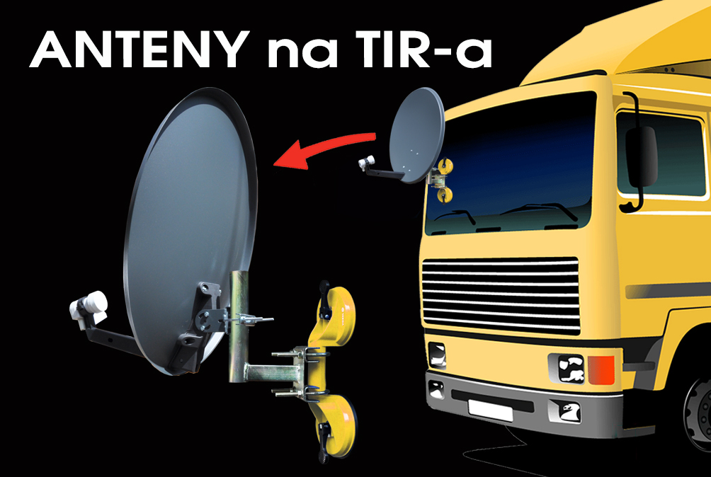 Antena sat dla TIR-a 60 cm