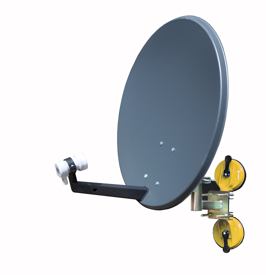 Antena sat kempingowa 60 cm z przyssawką