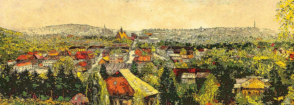 Panorama Bochni tzw. czegodajewka wydruk 100 x 36 cm [1]
