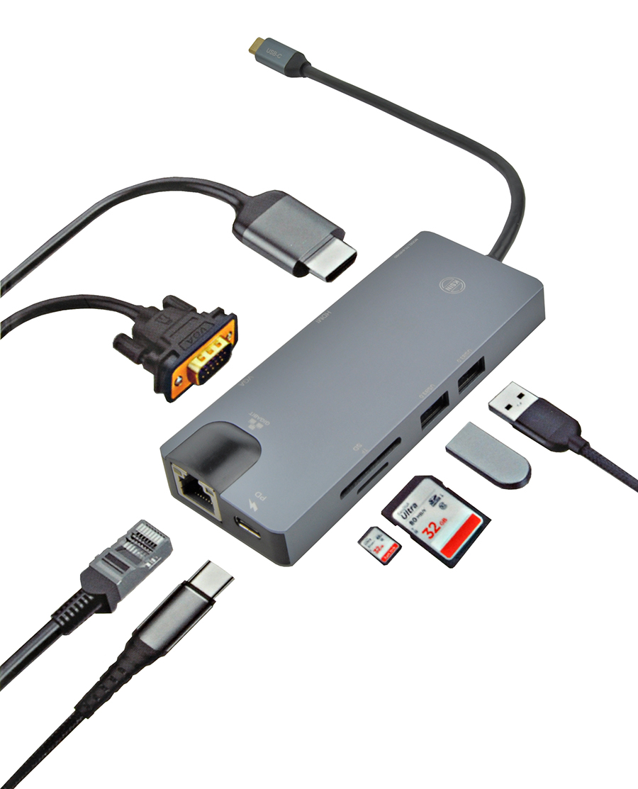 Adapter USB-C 8in1 hub wielofunkcyjny