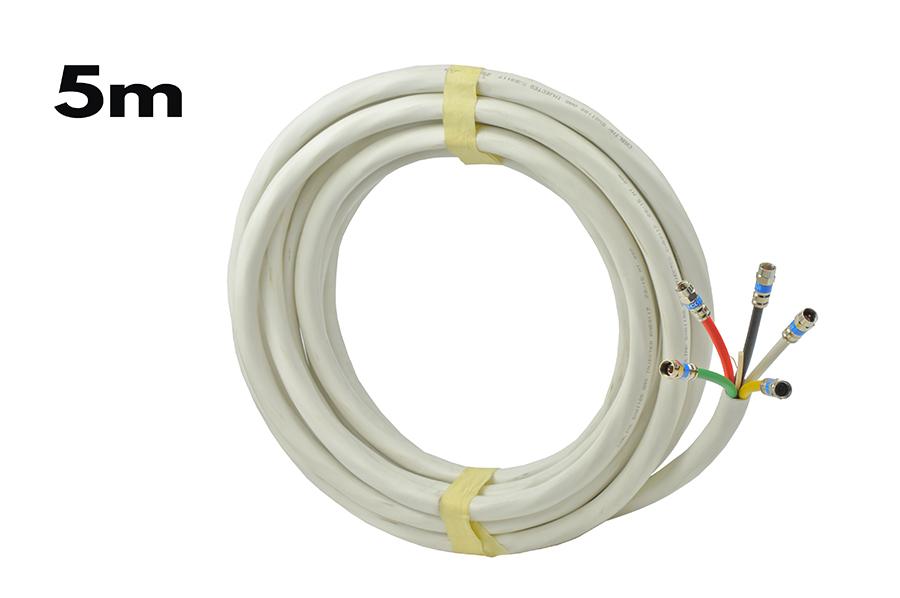 Kabel Cablink 5xGI-18S biały 5m