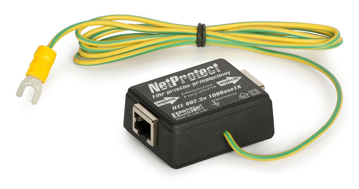 Zabezpieczenie sieci LAN z uziemieniem