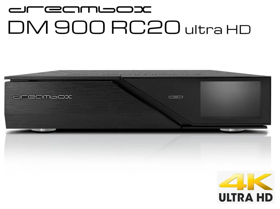 Odbiornik Dreambox DM900 RC20 UHD 2xS2 FBC