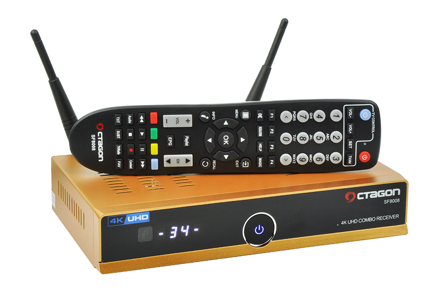 Odbiornik Octagon SF8008 Gold Combo UHD 4K S2X - Netflix