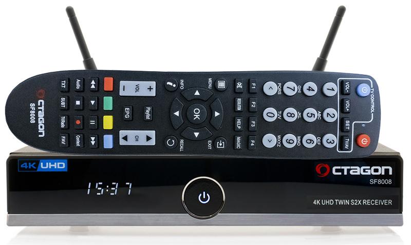 Odbiornik Octagon SF8008 Twin UHD 4K S2X + 1TB HDD