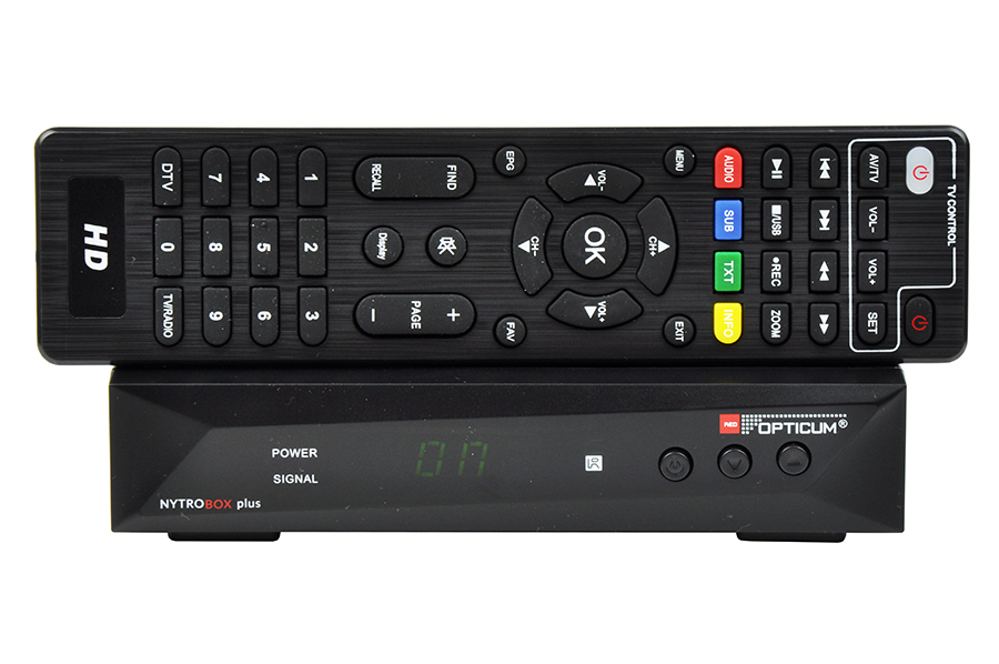 Odbiornik DVB-T/T2/C Opticum Nytro Box Plus HEVC/LAN