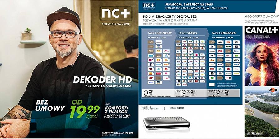 Zestaw nc+ telewizja na kartę: ITI 2851S + pakiet Komfort+/Filmbox 6m