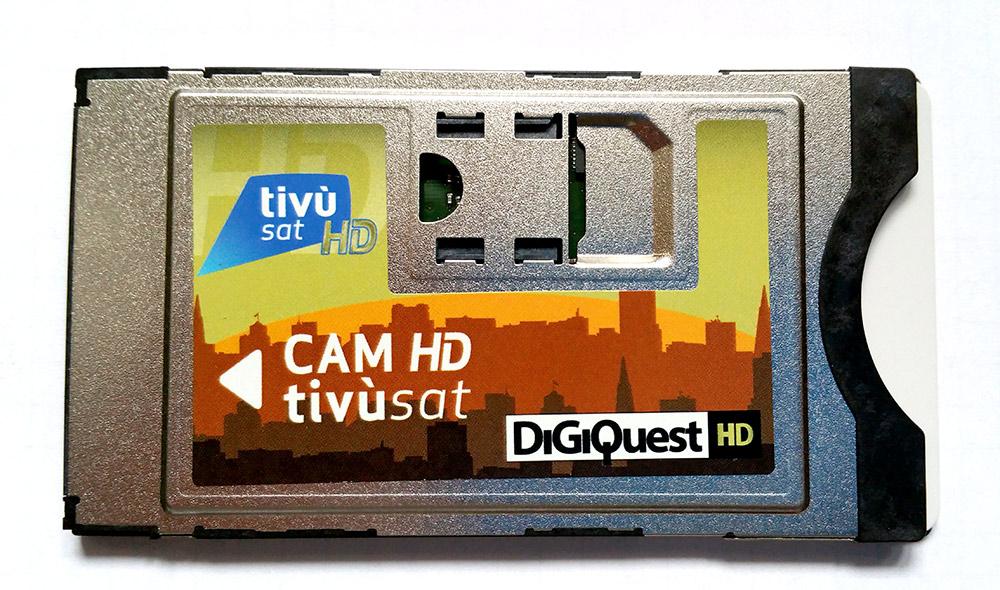 Tivusat: karta + CAM w UHD